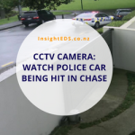 CCTV Camera: Watch Police Car Being Hit In Chase - updated Oct 19