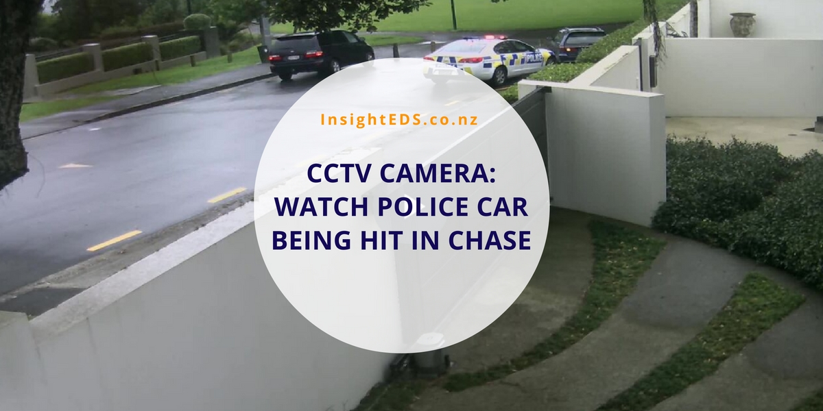 CCTV Camera - Police Chase In Auckland
