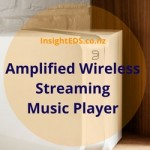 Amplified Wireless Streaming Music Player
