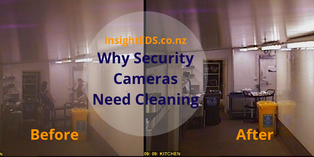 Security Cameras need Cleaning