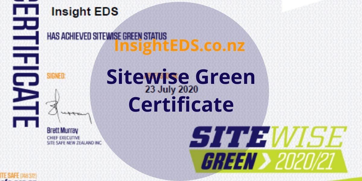 Sitewsie Green Certificate